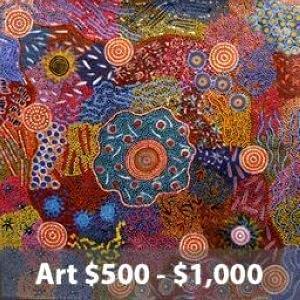 artworks $500 - $1000