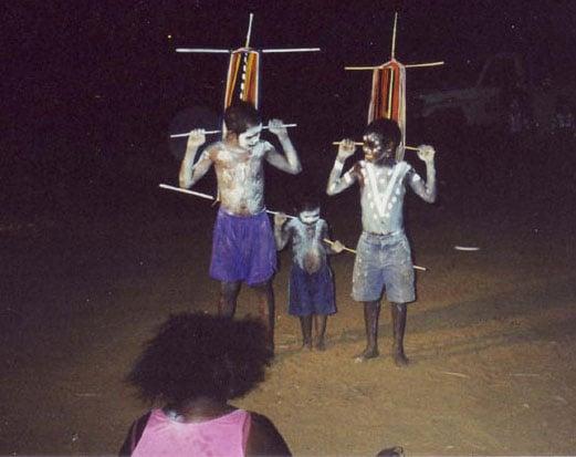 Aboriginal children dancing