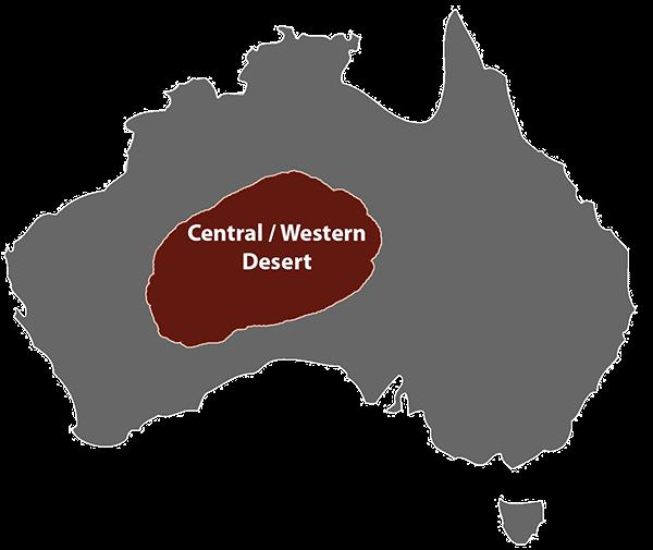 central western desert art
