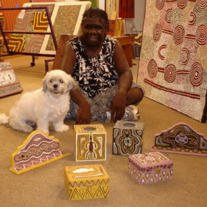 Ju Ju and Maggie the gallery boss