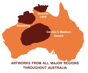 Major Indigenous Art regions of Australia