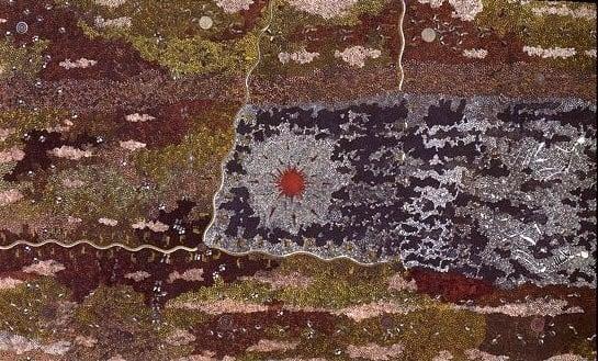 Clifford Possum Tjapaltjarri Warlugulong 2.4 million dollar painting