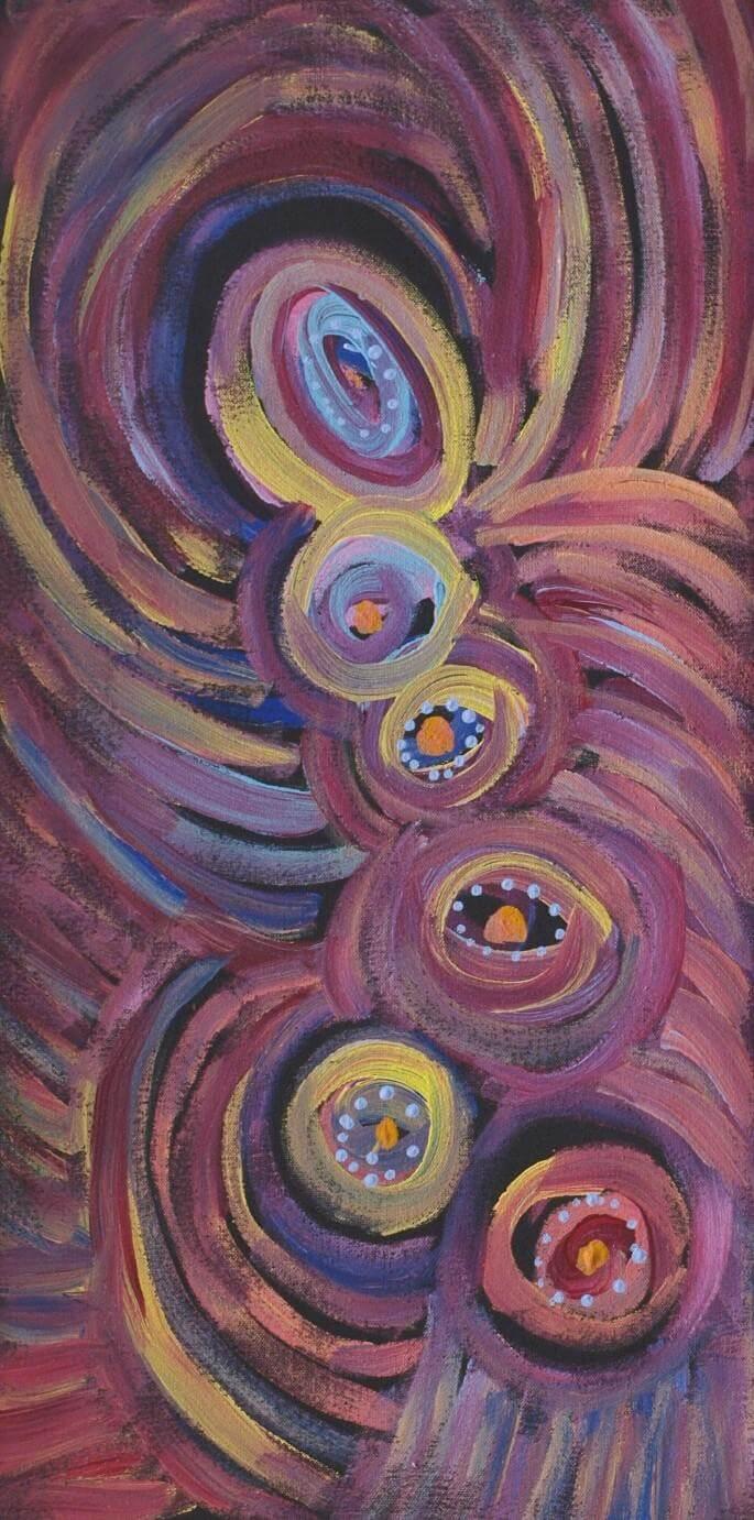 Alma Nungarrayi Granites / Star (Seven Sisters) Dreaming