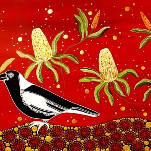 Melanie Hava Magpie and Banksia (1A) 1