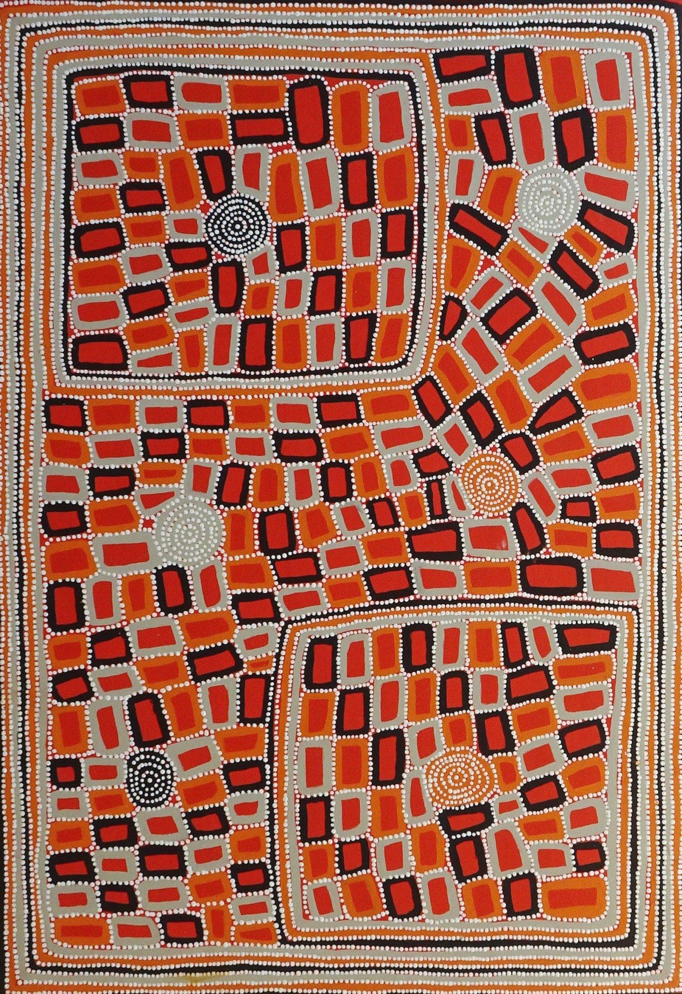 Walala Tjapaltjarri / Tingari (1C) - Artlandish Aboriginal Art Gallery