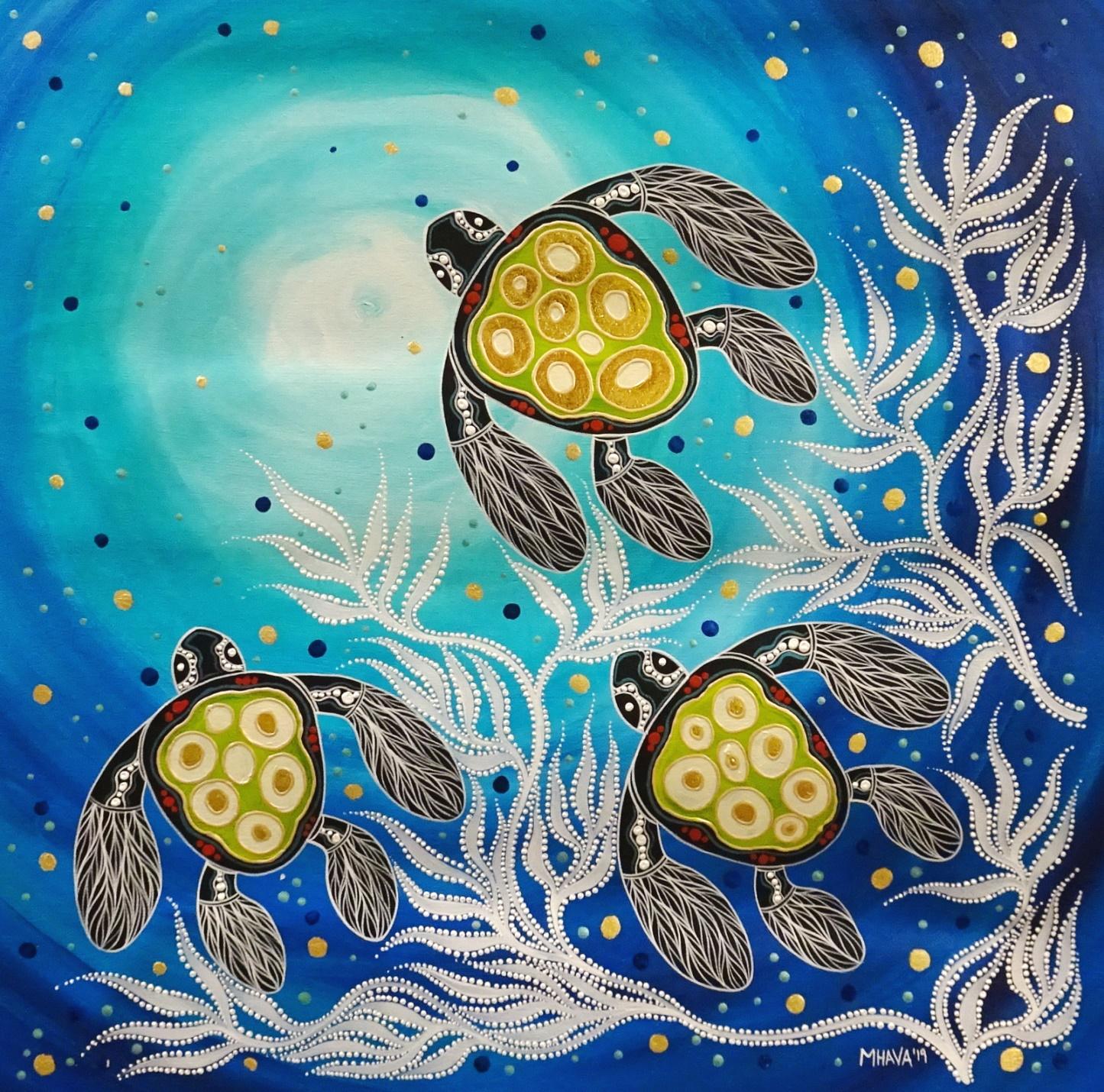 Melanie Hava Turtles Towards The Light 1a Artlandish