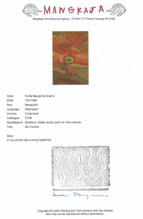 Purlta Maryanne Downs Aboriginal Art