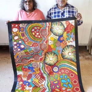 Damien and Yilpi Marks Aboriginal Art