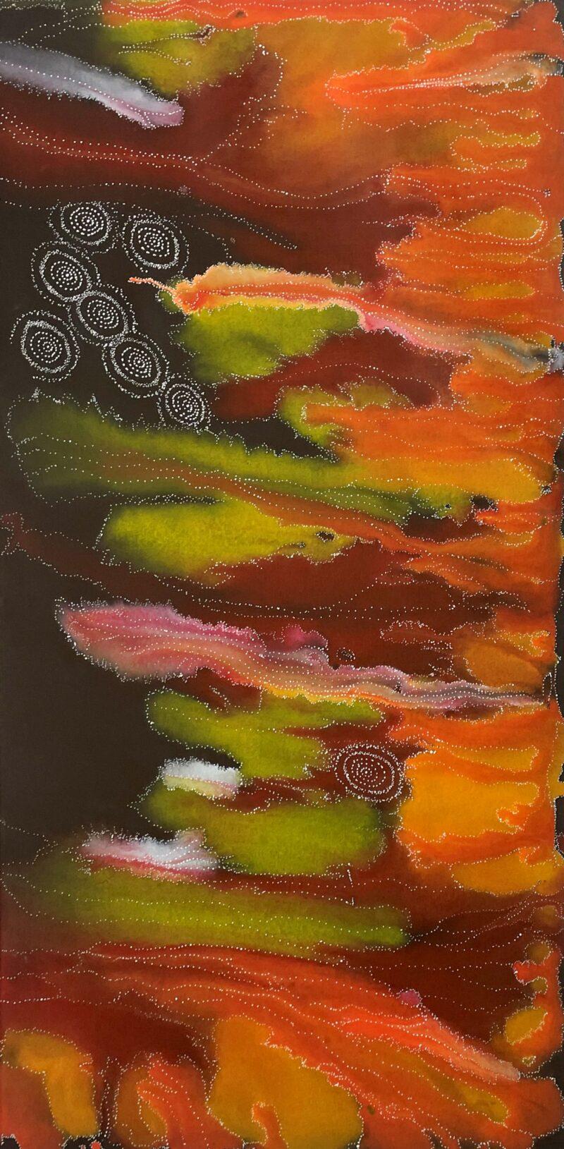 Athena Nangala Granites Aboriginal Art